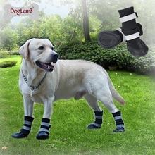 Zapatos para perros de invierno resistente al agua, 4 Uds., botas antideslizantes para nieve y mascotas, Protector de pata reflectante cálido para perros medianos grandes, Labrador Husky