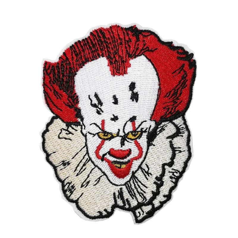 """3,5 """"джокер лицо красный шар мы все плаваем вниз здесь он фильм ужасов Железный На Патчи для одежды косплей костюм значок"""