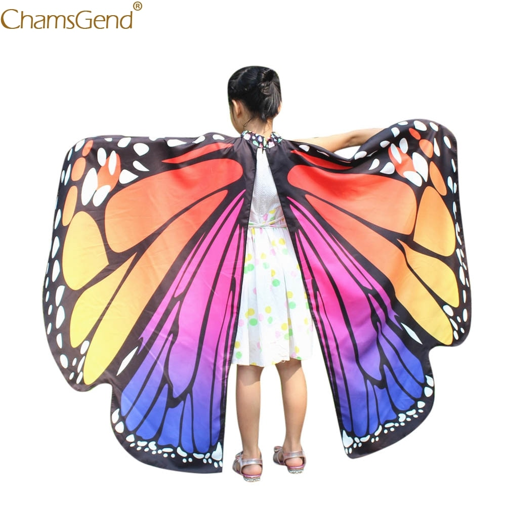 Детские шали и пончо для девочек крылья бабочки африканские женские шали Дизайнерские шарфы Нимфа Пикси пончо костюм аксессуар Mar11