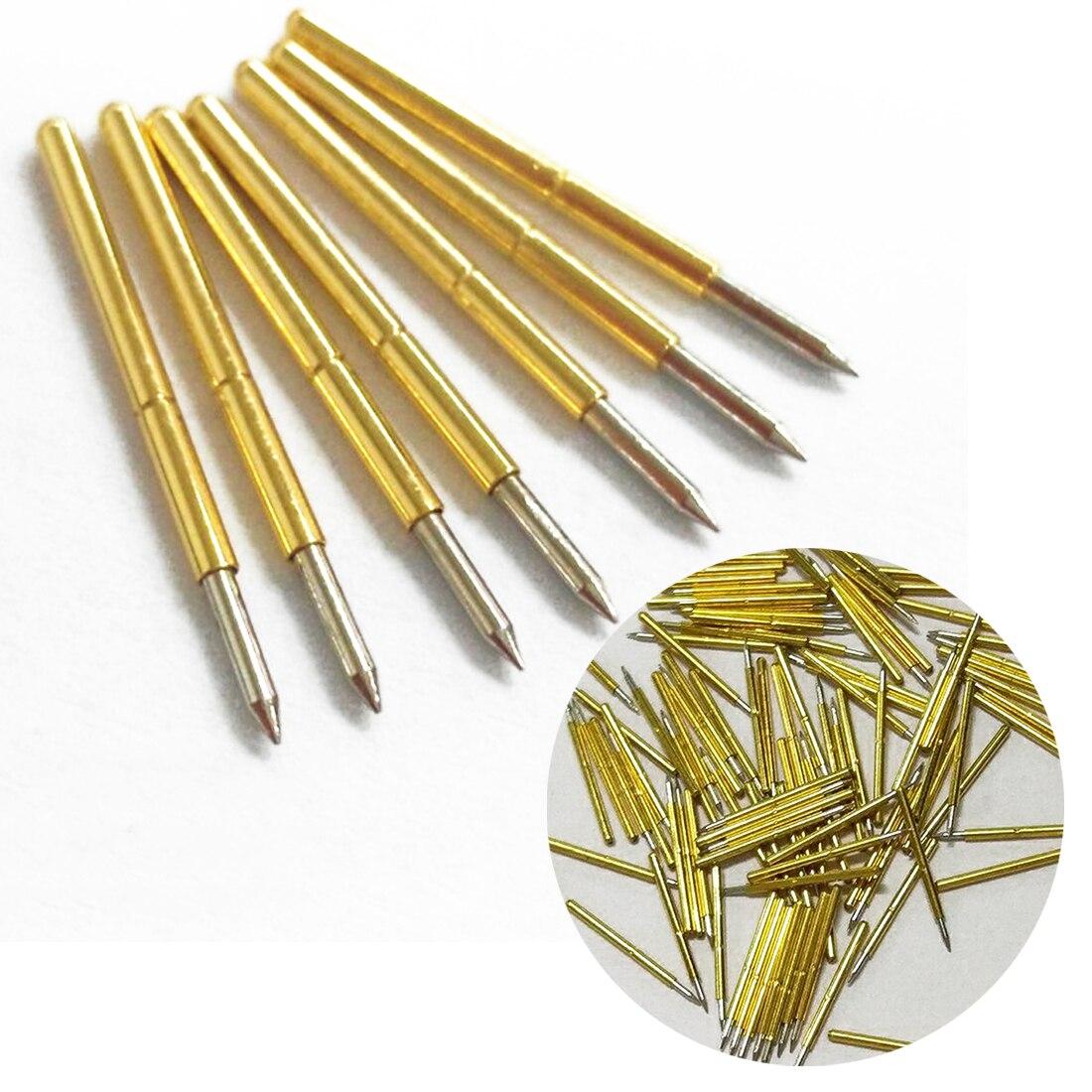 Горячее предложение 100 шт пружина тестового зонда Pogo Pin P75-B1 диаметр 1,02 мм 100 г Cusp копье позолоченное для Тестовых Инструментов