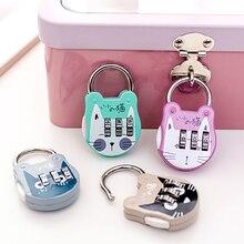Sac à dos valise cadenas avec mot de passe   Sac à dos mignon chat, Mini cadenas à clé, sac à main pour Journal carnet de notes, verrouillage à Code, 1 pièce