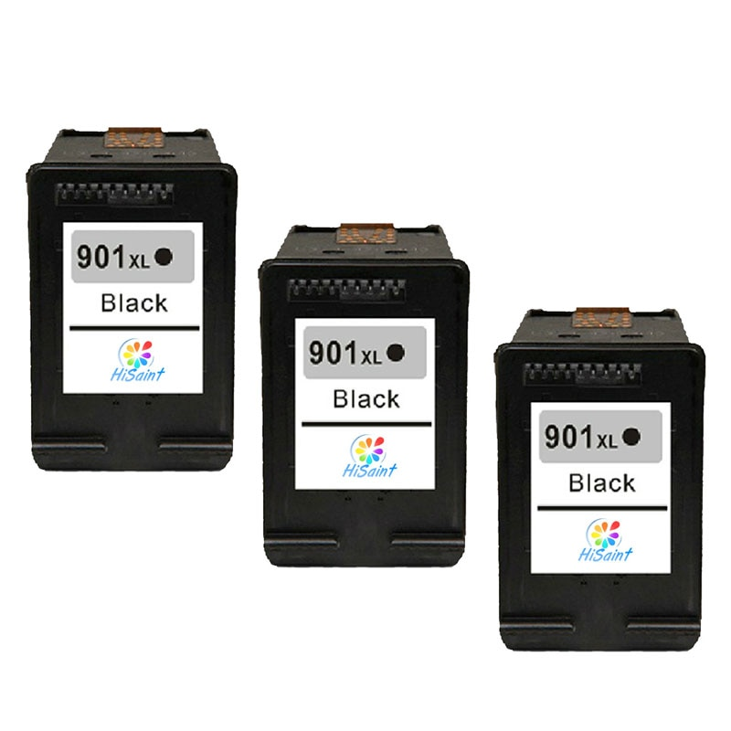 3pk preto para HP 901 xl Officejet Hisaint J4580 HP901XL aplicável para HP Officejet J4580 J4660/J4640/J4680 /J4500