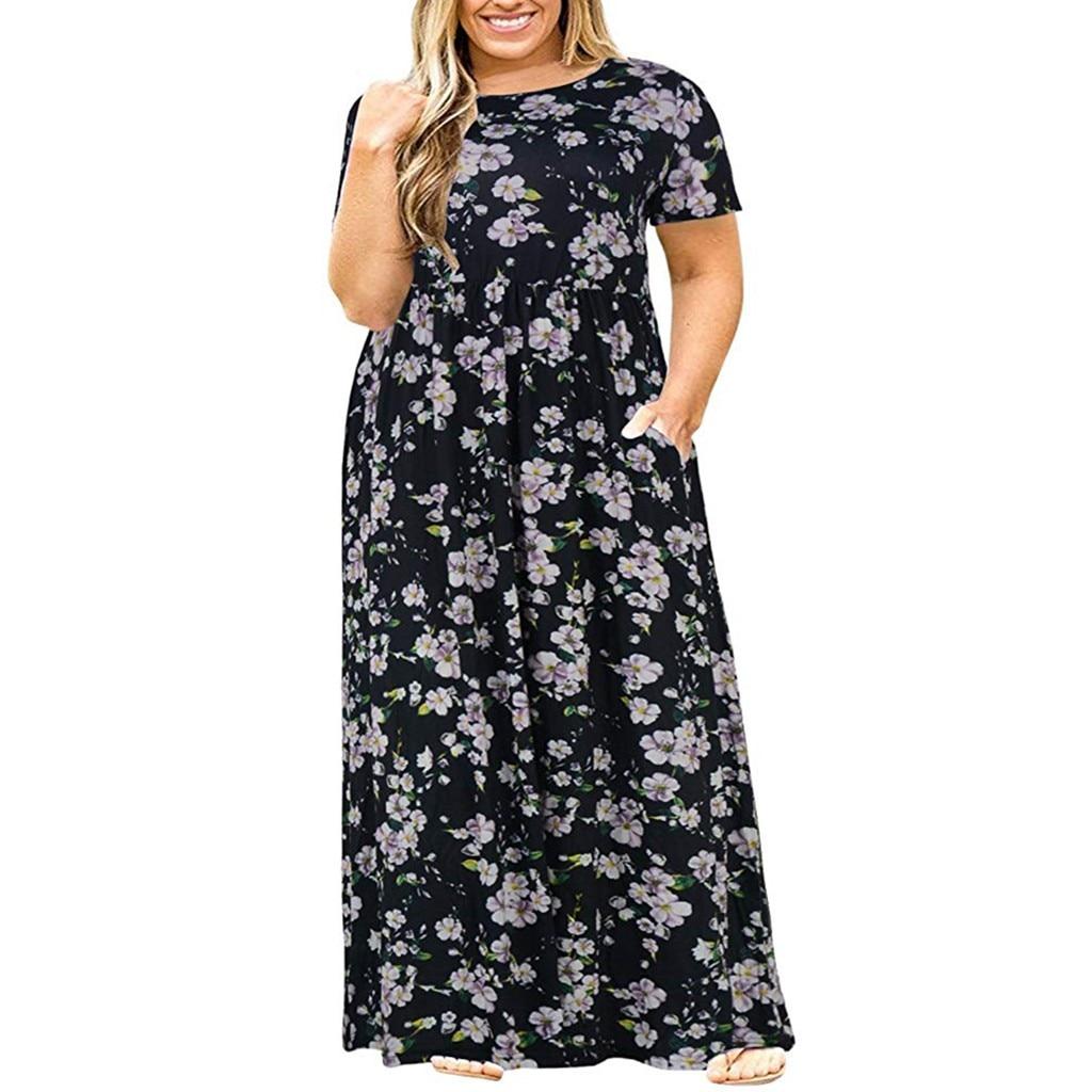 2019 nova moda tamanho grande solto vestido casual tamanho grande impresso das mulheres de manga curta vestidos de verão soltos mais tamanho