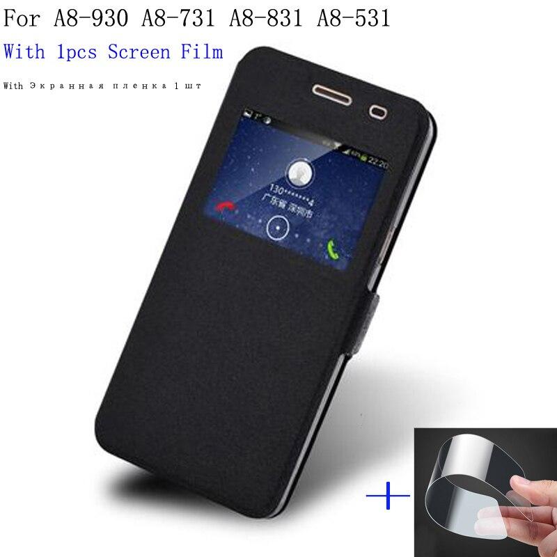 Für Coolpad Verkaufs-tiptop Max A8 Fall A8-930 A8-731 Abdeckung Flip Leder + Offene Fenster Shell Für Coolpad Max A8 A8-831 a8-531 telefon fällen