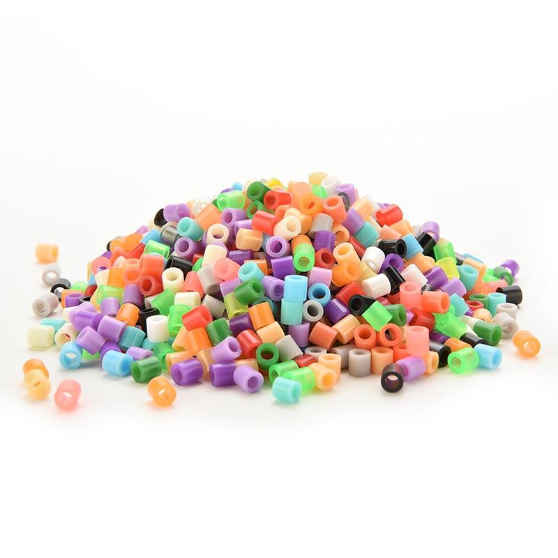 500 unids/lote abalorios de Eva 5mm cuentas Hama/perlas Perler gran chico diversión DIY inteligencia juguetes educativos rompecabezas artesanales 13 colores