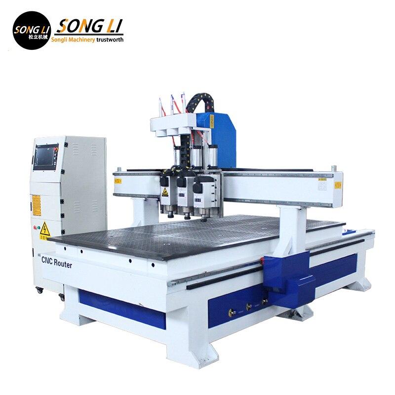 Songli CNC 4,5 kW enfriado por aire multi-proceso de carpintería panel muebles gabinete máquina de grabado automático