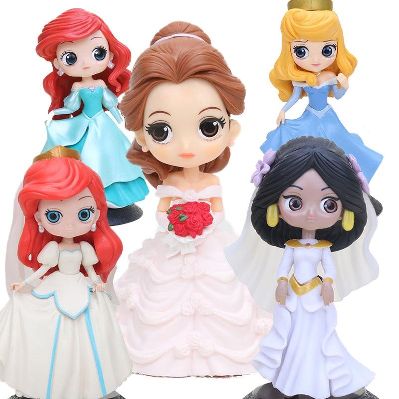 big eyes princesses Q posket Characters Figure Wedding Dress Princess PVC Action Figure