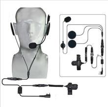 2 Pin ptt mic Headset für Kenwood puxing TYT Midland Zwei Weg CB ham Radio walkie talkie Baofeng uv-5r Helm motorrad Racing