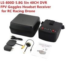 LS-800D 5.8G 5in 40CH FPV lunettes casque récepteur moniteur avec HD DVR double antenne Auto-recherche pour RC course Drone fz