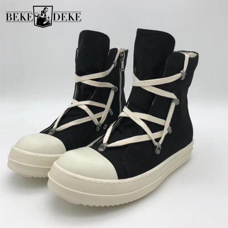 Sapatos de lona de alta qualidade homens marca de luxo formadores casuais tornozelo plataforma botas zip trabalho de combate botas do exército mais tamanho tênis de inverno