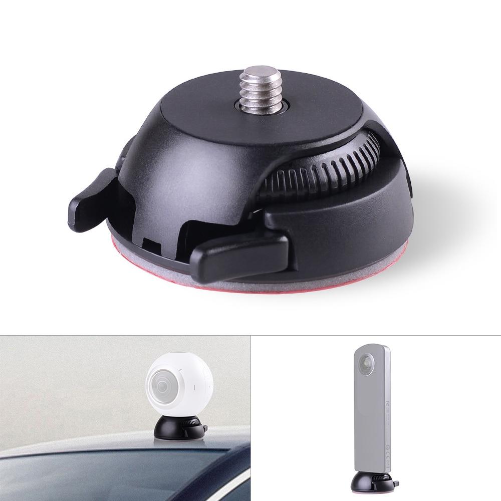 Быстросъемный держатель с пряжкой + плоская изогнутая основа, клейкая лента для камеры Samsung Gear 360 для Ricoh Theta S/SC/M15