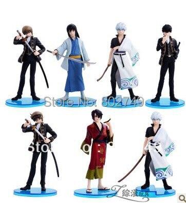 7pcs/lot Japanese Anime Gintama PVC Figure