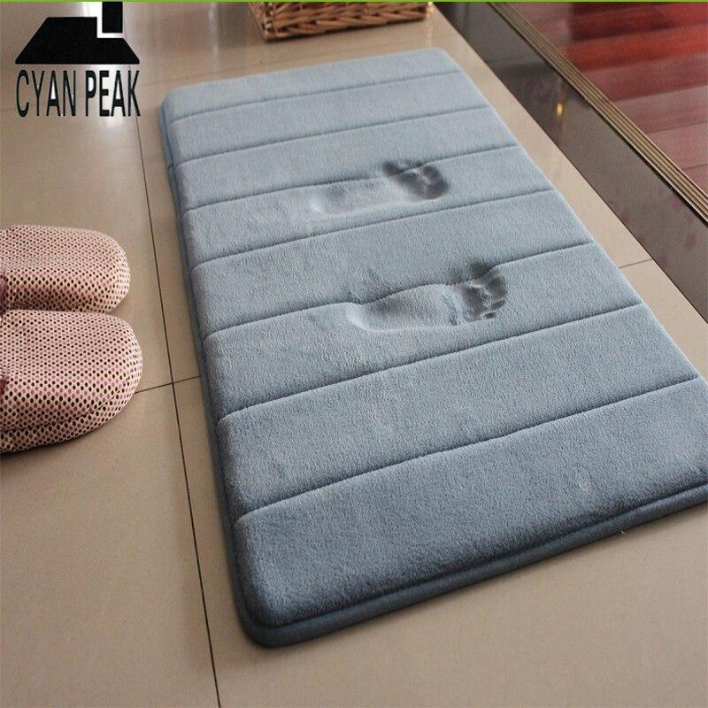 Speicher Schaum Boden Bad Matte Korallen Samt Nicht-Slip Weiche Bad Teppich Saugfähigkeit Teppich Küche Teppich Innen Fußmatte Bad teppich
