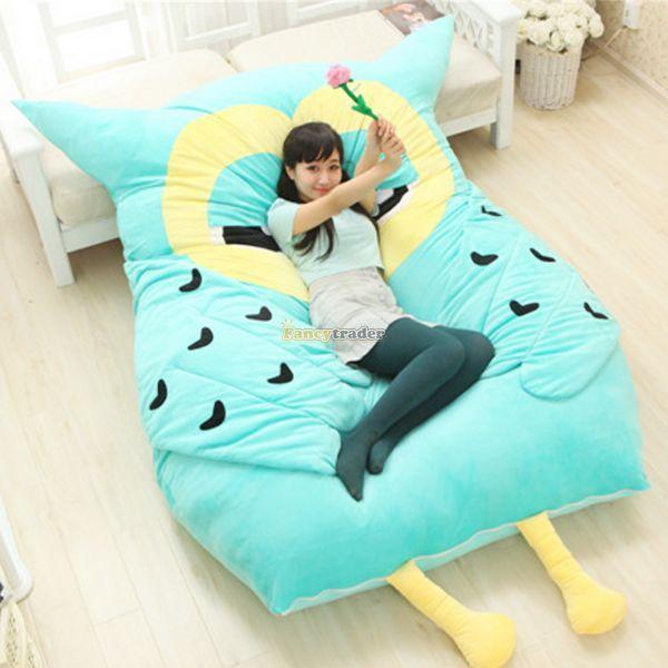 Fancytrader 200cm x 150cm adorável gigante macio pelúcia coruja tamanho duplo cama tapete tatami colchão sofá, frete grátis ft50330