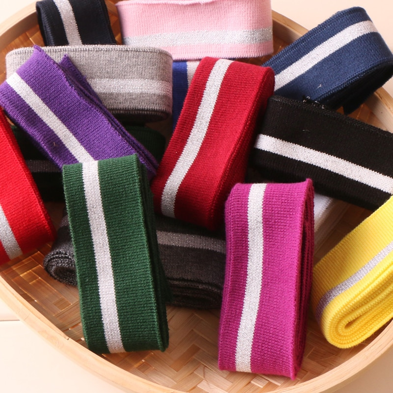 Cotton T-shirt Neckline elastic collar cuffs Trim For Clothing Accessories fabric