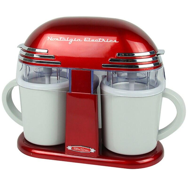 Double Cone Electric Ice Cream Maker Classic Childrens Ice Cream Machine Home Automatic Icecream Machine for Kids Home DIY