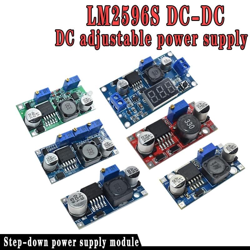 Envío gratis 1 Uds LM2596 LM2596S DC-DC 4,5-40 V módulo de alimentación reductor ajustable nuevo, alta calidad
