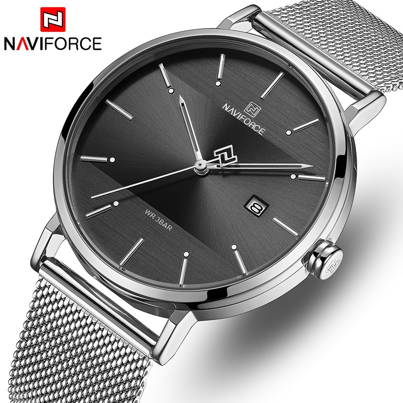 NAVIFORCE Watch Men Fashion Casual Men's Watches Stainelss Steel Mesh Quartz Wristwatch Male Waterproof Date Relogio Masculino