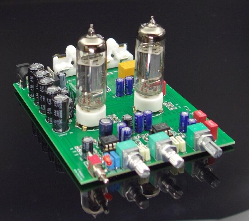 HCF3 fiebre Nivel 2 tono 6J5 preamplificador de tubo paso bilis preamplificador Bluetooth 4,2 audio amplificador NE5532