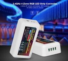 Livraison gratuite lumière FUT037 sans fil 2.4G 4 zones RF sans fil RGB LED de contrôle pour Flexible 5050 3528 RGB Led bande lumineuse
