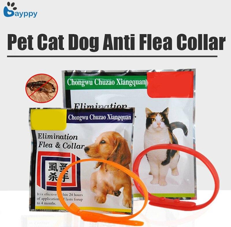 Collar antipulgas de silicona suave para perros y gatos, collares ajustables para mascotas, collares para mascotas que dejan a tu mascota lejos de los ácaros de las garrapatas, accesorios para mascotas