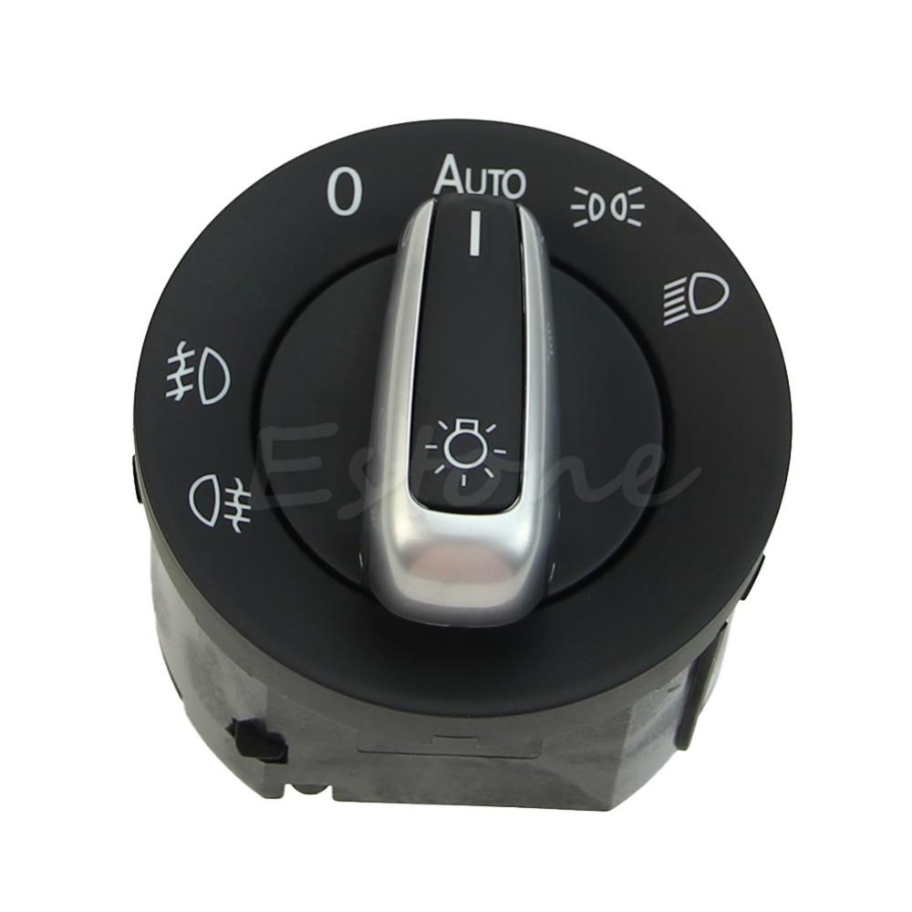 Car Style Headlight Control Switch for VW Golf 5 Sagita CC B6 2005-2013 Car Fog Light Plating Knob Replacement Car Accessories