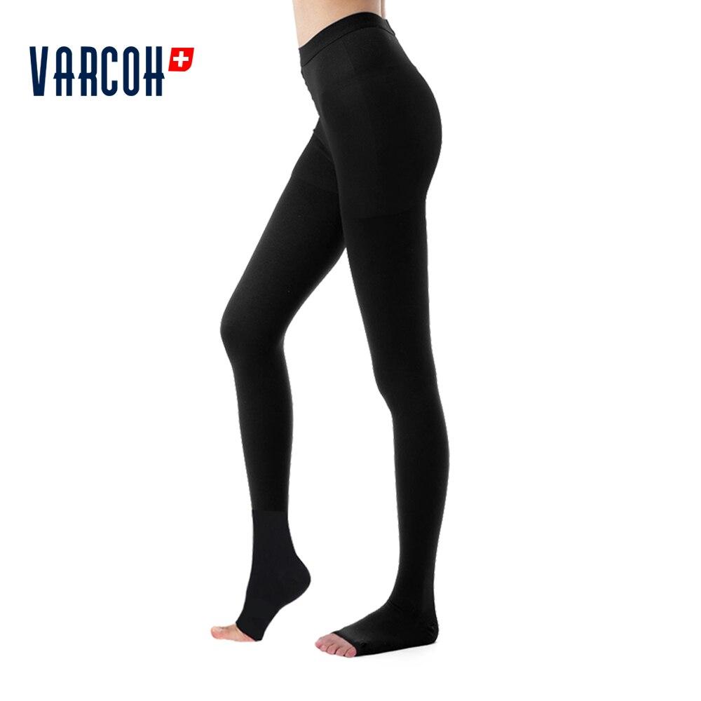 Medias opacas Extra firmes hasta la cintura pantimedias de compresión 30-40 mmhg-medical gradued Support varices, DVT,Travel
