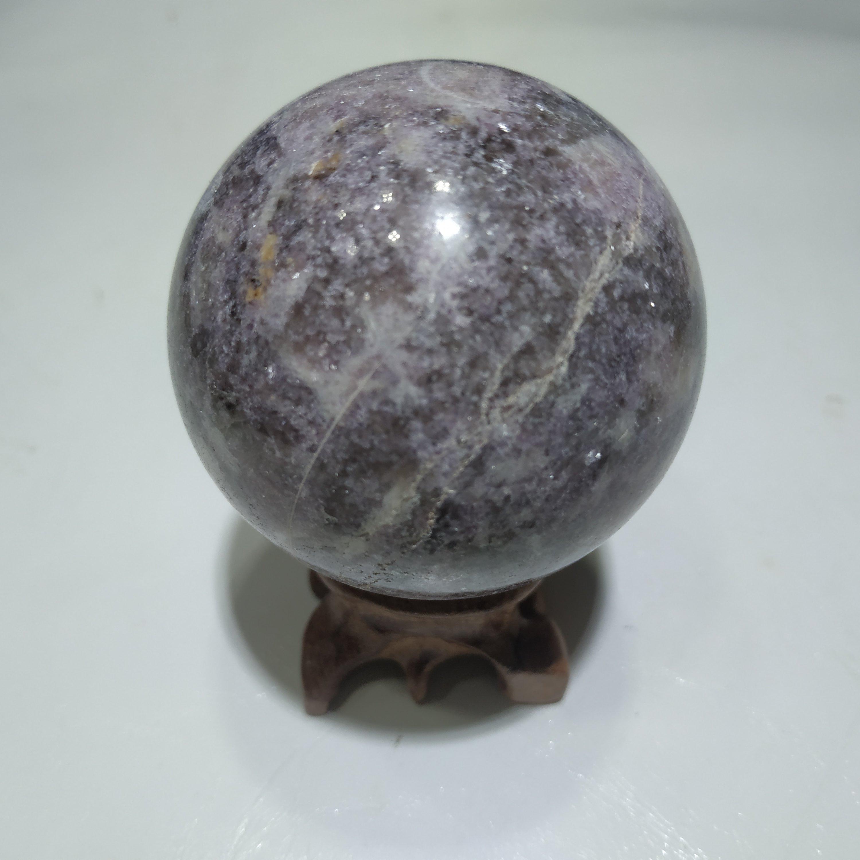 Натуральный хрустальный шар кунцит Сфера украшения дома Роза кунцит подарок
