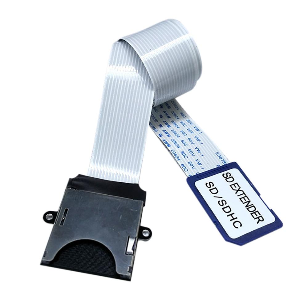 Cable de extensión de tarjeta SD a SD, adaptador de lectura, extensor...