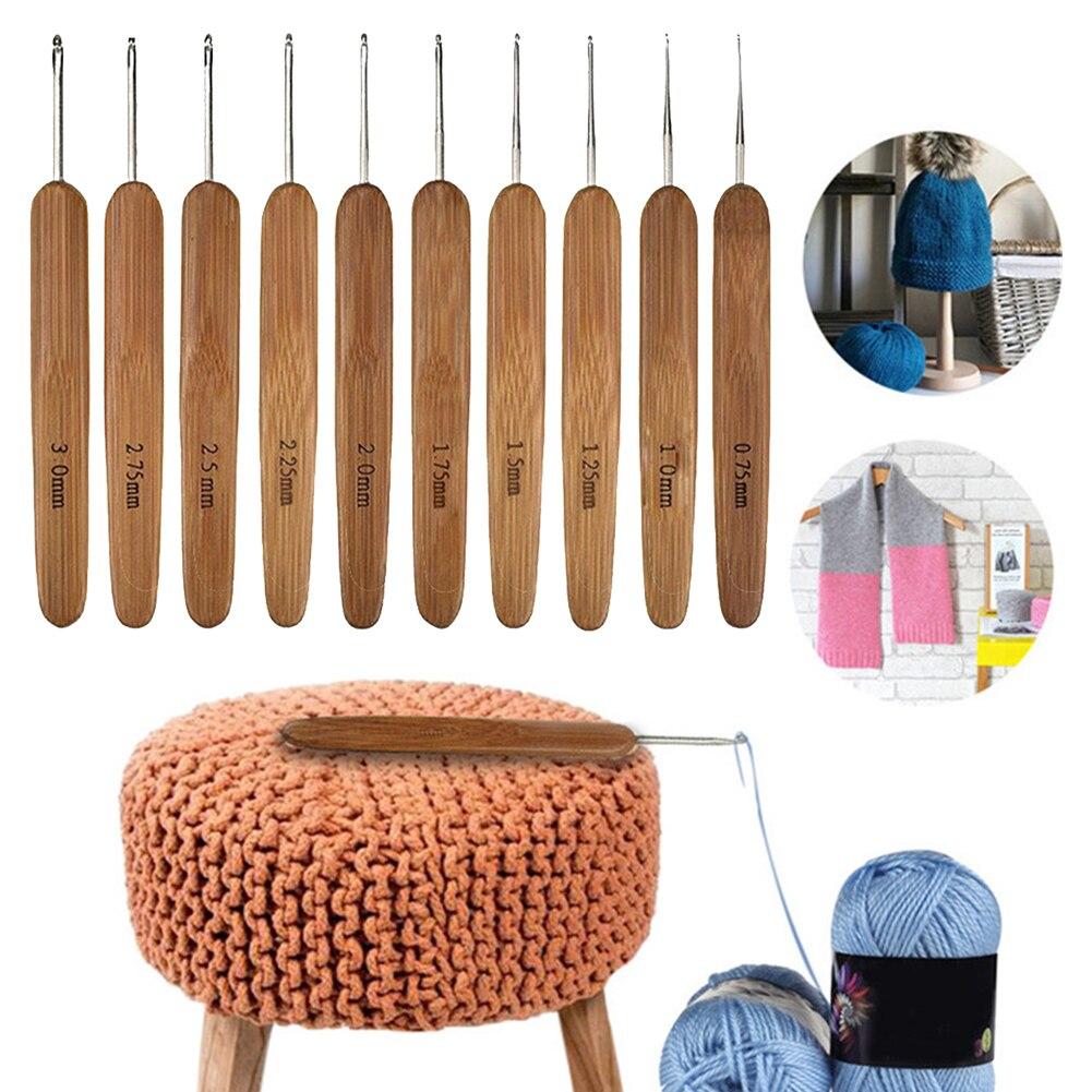 10 шт., иголка для рукоделия, свитер, вязание, портативный, для домашнего использования, сделай сам, круглые инструменты, швейные крючком Крюч...