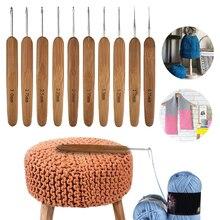 Pull à aiguilles tricot Portable usage domestique   Outils circulaires, ensemble de crochets de couture, Mini poignée en bambou taille Multi, 10 pièces