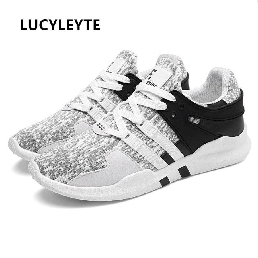 2018 nova primavera estudante respirável malha esportes sapatos masculinos tendência coreana com borracha inferior luz tênis de corrida