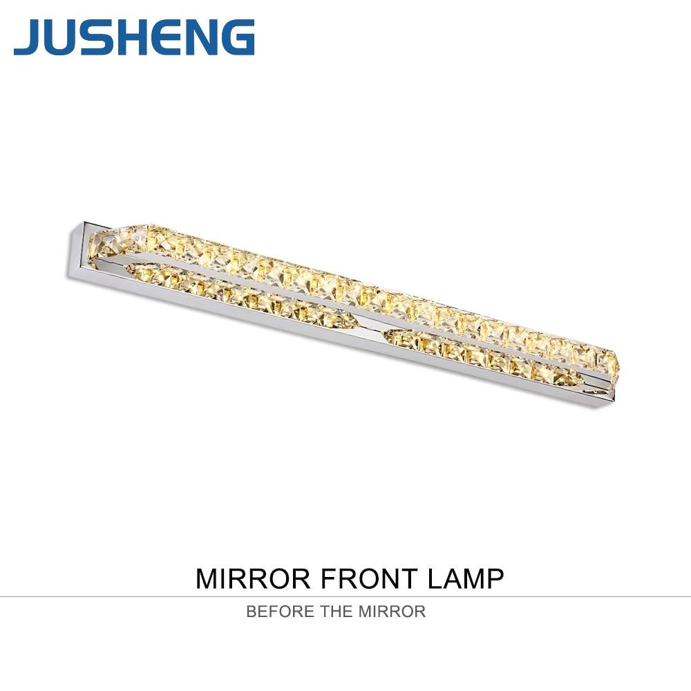 JUSHENG 14W Crystal Bathroom LED Mirror Front Lights Champagne&Transparent Crystal Indoor Sconce Lighting 110V / 220V AC