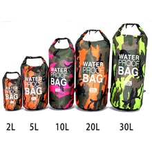 Sac à dos imperméable de Camouflage de PVC sac de Rafting de Sport en plein air portatif sac sec de seau de natation de traçage de rivière 2L 5L 10L 15L 20L 30L