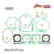HS-05 HS800 Full Set Gasket Hisun Parts HS2V91MW 800cc HS 800 TACTIC STRIKE ATV UTV Quad Engine Spare For Coleman for Cub Cadet