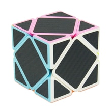 Babelemi Carbon Fiber Sticker 3x3x3 Skew Magic Cube Speed Puzzle Educational Toys for Kids Child