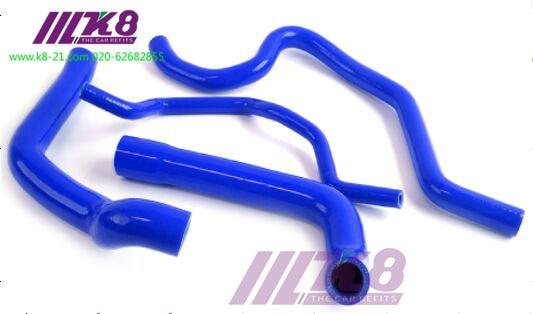 SILICONE RADIATOR COOLANT HOSE KIT FOR V W PASSAT AUDI A4 B6 2001-2007  (4Pcs)Red/Blue/Black