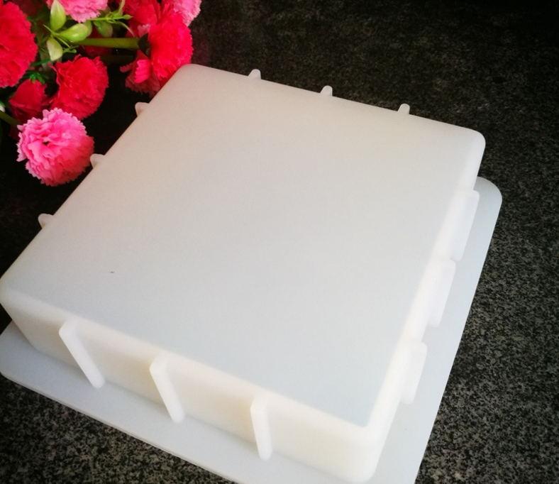 PRZY-قالب صابون سيليكون مربع ، 1 كجم ، غير قابل للتشوه ، صناعة يدوية ، Diy