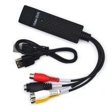 JZYuan USB 2.0 Easycap vidéo TV Tuner DVD Audio Capture carte convertisseur enregistrement récepteur Audio vidéo carte adaptateur pour Win7/8/XP
