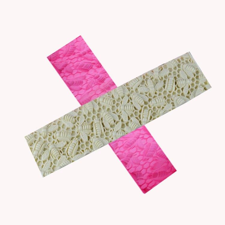 Пчелиный узор тост коврик силиконовая форма украшение помадка торт плесень ручной работы силикагель мыло формы Арома Камень Плесень