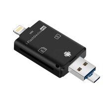 Multi em 1 adaptador de memória usb tf para leitor de cartão micro sd adaptador para flash drive multi leitor otg para iphone 5 5S 5c 6 7 8