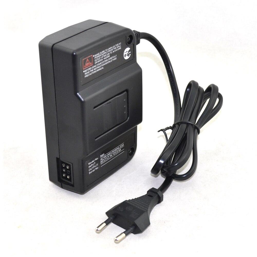 Ue plug adaptador ac fonte de alimentação para nintendo para n64