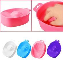 1 PC Nail Art Hand Wash Remover Soak Plastic Bowl DIY Salon Nail Spa Bath Treatment Manicure Tool  1