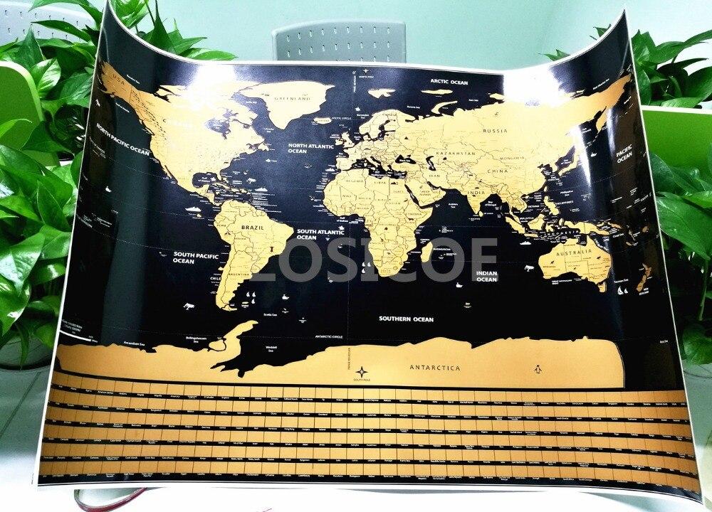 Raspadinha Mapa Personalizado Bandeira Mapa Do Zero Do Mundo Mini Zero Fora Da Folha de Revestimento Multi-camada Poster Adesivos de Parede 82.5x59.5 cm