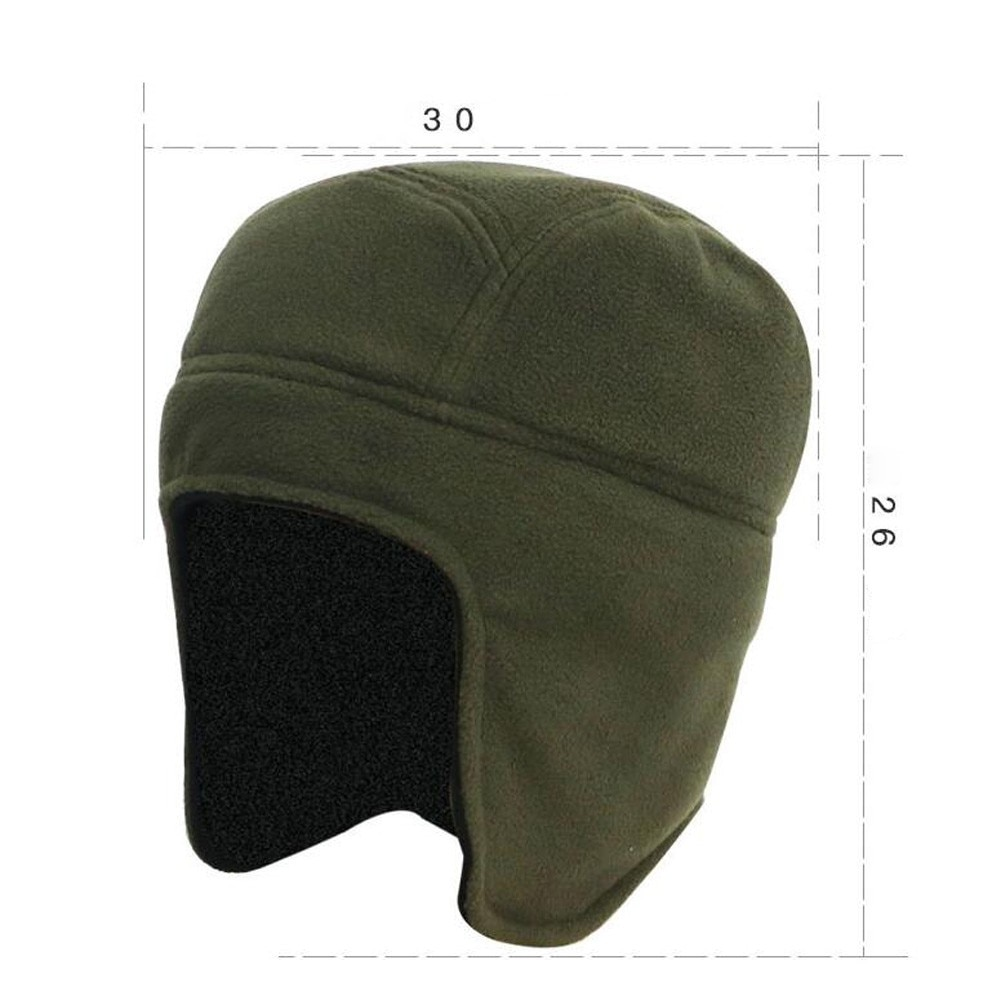 Mens Women Winter Outdoor Solid Color Fleece Earflap Hat Caps Ears Warm Hat
