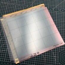 1 juego Prusa i3 MK2.5/MK3 cama caliente hoja de acero con 2 uds PEI y 2 uds 3 M 468M cinta adhesiva de respaldo