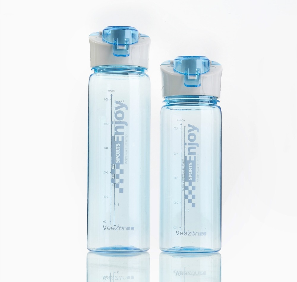1PC New Leak Proof Sport Water Bottle High Quality Tour Hiking Portable Bottles 600ml 750ml JA 0019