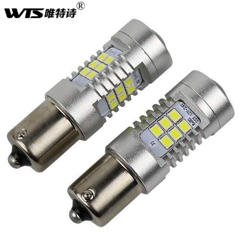 WTS 2 uds. Lámpara de señal de tipo CAN bus para coche, luces LED de coche 1156 P21W bombilla BA15S 3030 21smd lámpara trasera de marcha atrás para estilo de coche toyota