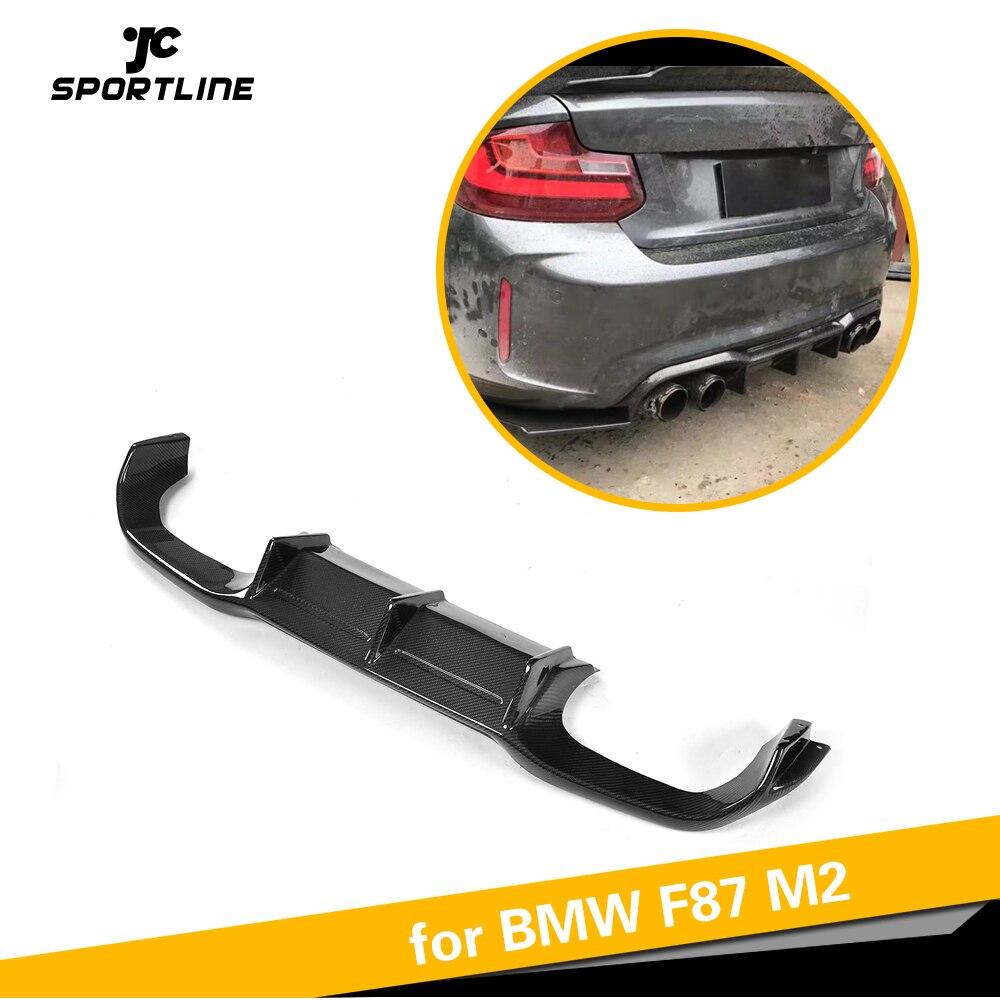 Parachoques trasero para BMW F87 M2 y competición, versión 2014-2019, difusor de labio, alerón, protector de parachoques de fibra de carbono