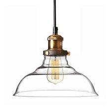 Américain Vintage industriel Celar verre suspension lampe maison déco bricolage salle à manger E27 ampoule pendentif luminaire